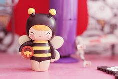 ♥ Momiji collection ♥ | Poulette Magique Momiji Doll, Kokeshi Dolls, Peg Wooden Doll, Bee Photo, Kawaii, Vinyl Toys, Designer Toys, Polymer Clay Crafts, Bottle Art
