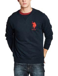 US Polo Men s Cotton Sweatshirt  Amazon.in  Clothing  amp  Accessories  Winter Wear 17cfe8d8bd
