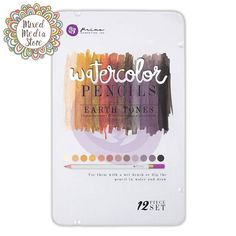 Prima Marketing Watercolour Pencils Earth Tones, beautiful colours and quality! - Get yours at https://mixedmediastore.com.au :)