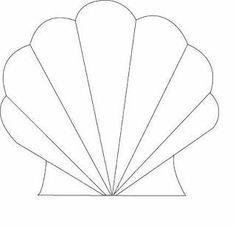 Αποτέλεσμα εικόνας για seashell template free printable