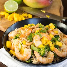 Recipe: Thai Mango Shrimp Fried Rice. Made this tonight, substituting Mango Salsa (jarred) for the mango, and it was delicious!