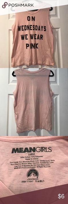 Mean Girls tank No damage, in excellent condition! Cute shirt from the popular film. 58% cotton, 42% polyester. Listing as Mossimo for exposure, shirt was bought at target. Mossimo Supply Co Tops