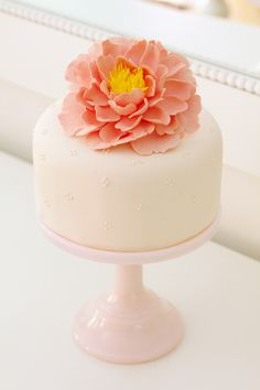 * pink milk glass cake stand * It doesn't get more awesome than this!