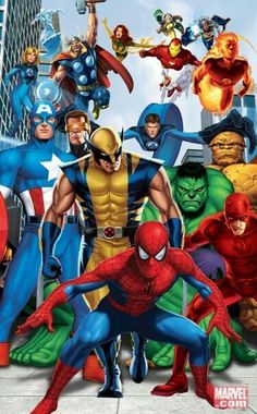 Marvel Heroes Framed Art Poster - Incredible bedroom, play room, and nursery decor for boys and girls rooms at Kids Decorating Ideas All Marvel Superheroes, Marvel Comics Art, Marvel Heroes, Marvel Avengers, Comic Book Characters, Comic Book Heroes, Marvel Characters, Comic Books Art, Comic Art