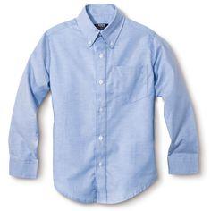 French Toast Boys' Long-Sleeve Oxford Shirt Light Blue 18