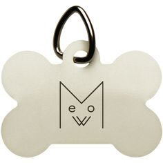 Meow Dog Bone Pet Tag, Black Design – Optic Poem Design