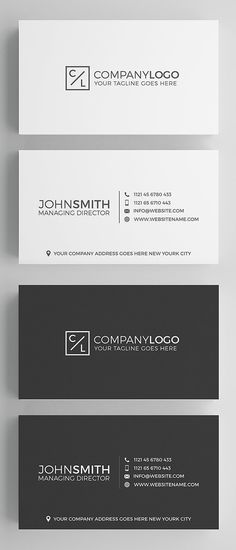 Minimal Modern Business Card Design #businesscards #cleandesign #minimaldesign #minimalistic #simpledesign