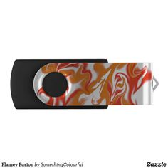 Flamey Fusion Flash Drive Usb Drive, Usb Flash Drive, Dog Design, Custom Design, Funky Design, Funky Art, White Patterns, Abstract Pattern, Art For Kids