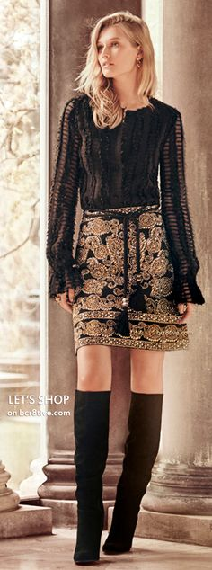 St. John Collection Sequined A-Line Mini Skirt