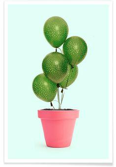 Cactus Balloon - Paul Fuentes - Affiche premium