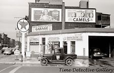 Texaco Gas Station, Benton Harbor, Michigan - 1940 - Historic Photo Print