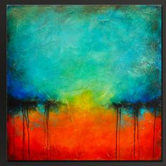 Oxidized Metal 18 30 x 30 Abstract Acrylic by CharlensAbstracts