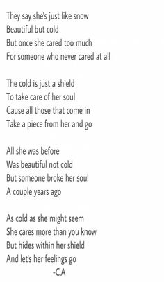 Poem made by : Consti Acevedo Cold poem