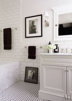 Badezimmer New York Style Slagerijstok