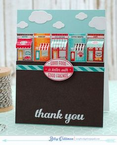 Thank You Card by Betsy Veldman for Papertrey Ink (July 2015)