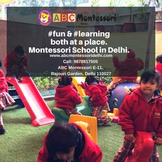 ABC Montessori the fastest growing best Montessori play school in Hari Nagar, Rajouri Garden, West Delhi. Admission started for 2018-19 batch. Playschools are the best way to educate the kid. Contact us Today at 0114587003.Visit:www.abcmontessoridelhi.com 6 Years, Montessori, Preschool, Play, Education, Learning, Garden, Kids, Children