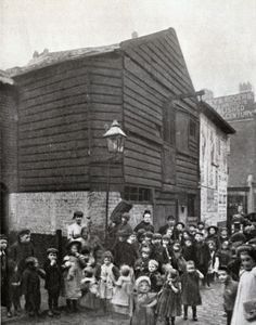 An poster sized print, approx (other products available) - The former donkey shed at Hope Place, Stepney, where Thomas Barnardo opened his first children& home - Image supplied by Mary Evans Prints Online - Poster printed in the USA Victorian London, Vintage London, Old London, East London, Victorian Era, Local History, British History, Family History, Old Street