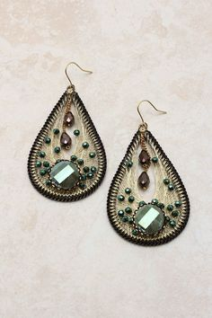 Peacock Teardrop Earrings