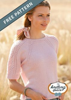 Feel extra pretty with this darling knitted pink sweater with lace and short sleeves. This is just the perfect piece to enjoy your short afternoon walks outside. Why not craft one for a friend too?  | Discover over 4,000 free knitting patterns at theknittingspace.com #knitpatternsfree  #summerknits #summerknittingproject #summerknittingpatterns  #homemadegift #giftideas Poncho Knitting Patterns, Knitted Poncho, Free Knitting, Summer Knitting Projects, Double Pointed Knitting Needles, Casual Jeans, Pink Sweater, Summer Tops, Homemade Gifts