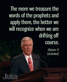 """""""The more we treasure the words of the prophets and apply them, the better we will recognize when we are drifting off course—even if only by a matter of a few degrees."""" From #PresUchtdorf's pinterest.com/pin/24066179228856353 inspiring #LDSconf facebook.com/223271487682878 message lds.org/general-conference/2008/04/a-matter-of-a-few-degrees. #ShareGoodness"""