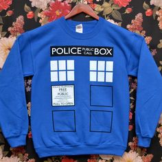 Great Doctor Who and Harry Potter sweatshirts and t-shirts.