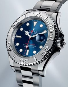 2012 Rolex Yacht-Master with blue sunray dial