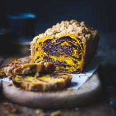 Pumpkin, rye + chocolate babka looks like a winning combination. More