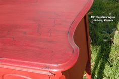 DIY Paint Tutorial: When All Else Fails, Crackle the Heck Out of It! www.AllThingsNewAgain.net
