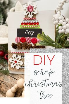 How to make a scrap craft supply Christmas tree Wood Christmas Tree, Christmas Signs, All Things Christmas, Christmas Holidays, Christmas Decorations, Christmas Ornaments, Winter Holiday, Holiday Decorating, Rustic Christmas
