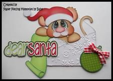 Dear Santa Set Premade Paper Piecing Die Cut for Scrapbook Page by Babs