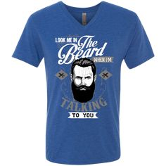 Love Growing A Beard Men's Next Level Triblend V-Neck Tee