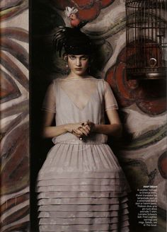 """""""Fashioning the Century"""" Vogue US May 2007. Photographed by Steven Meisel, styled by Grace Coddington, hairby Julien DYs, make-upby Pat McGrath, set designby Mary Howard & Sarah Oliphant. Model Natalia Vodianova."""