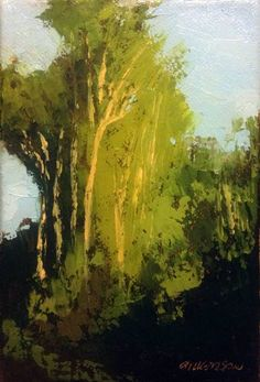 "Spring Greens, oil, 6 x 4"", © Mary Bentz Gilkerson"