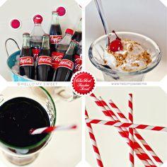 Sweet Parties: $100 Budget: Retro 50's Coke Float & Ice-Cream SundaeSocial - Blog - Hello My Sweet