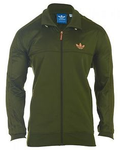 ADIDAS FABRIC MIX TT - STYLE - O21182 MENS Active Jackets O21182 GREEN SZ-2XL