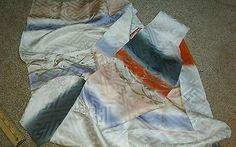Japanese Silk Kimono Fabric Scrap Bag, only the best, furisode with cream, gold