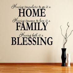 Home Family Blessing <3