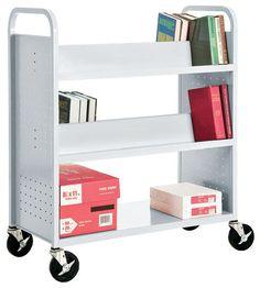 SVF336 Mobile Book Truck Storage Cart
