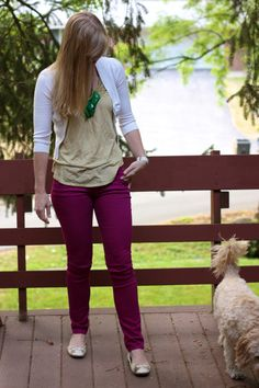 Work it  Top: LOFT  Cardi: ??  Pants: Target  Necklace: Charming Charlie's