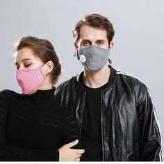 Fabric Mouth Face Mask Anti Haze/Anti Dust Mouth Mask Respirator Mascaras with Carbon Filter Respirator Different Nose Shapes, Activated Carbon Filter, Posture Corrector, Homemade Face Masks, Mouth Mask, 2 Set, Keep Warm, Deep Purple, Unisex
