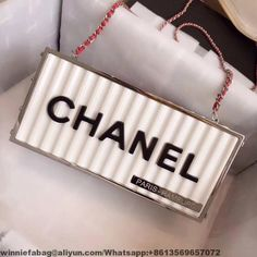 d8706f0f70a2 Chanel Evening in Hamburg Minaudiere Bag A94670 2018 White Chanel Bag, Chanel  Bag Sale,