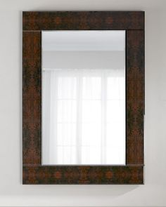 Burled+Wood+Mirror+at+Horchow.