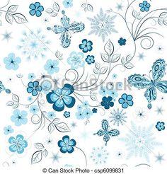 ベクター - 冬の花のパターンを繰り返す - ストックイラストレーション、ロイヤリティーフリーイラストレーション、ストッククリップアートアイコン、ストッククリップアートアイコン、ロゴ、ラインアート、画像をEPS、写真、グラフィック、グラフィックス、スケッチ、図面、ベクトルイメージ、アートワークは、ベクトルアートをEPS