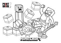 Disegni Da Colorare LEGO Minecraft Steve E Alex Coloring PagesLego