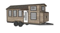 Free Tiny House Plans - Quartz Model with Bathroom