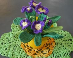 Háčkovaná primulka Crochet Flowers, Flower Power, Crochet Earrings, 3d, Jewelry, Tutorials, Diy And Crafts, Bijoux, Crocheted Flowers