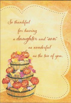 Thanksgiving Greeting Cards, Sons, Two By Two, Thankful, Daughter, How To Make, Ebay, My Son, My Daughter