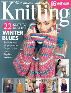 Knitting magazine issue January 22 knits to beat the winter blues! Plus 6 seasonal socks to knit supplement. Love Knitting, Simply Knitting, Knitting Books, Vintage Knitting, Knitting Stitches, Knitting Patterns Free, Knit Patterns, Knitting Projects, Free Pattern