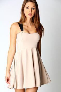 Louisa Strappy Detail Skater Dress