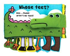 Melissa & Doug K's Kids - Whose Feet? Foot-Filled Cloth Book - Games & Toys